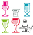 Colorful glasses vector image vector image