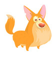 cute cartoon drawing of dog vector image vector image