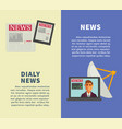 daily news with modern technologies promotional vector image