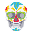 day dead traditional skull ornaments vector image