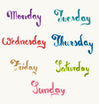Days of week vector image