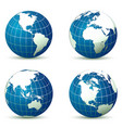 earth from different angles vector image vector image