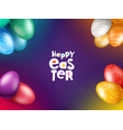 easter holiday greeting card template vector image