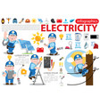 electricity infographics energetics professional vector image vector image