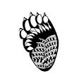 entangle stylized bear paw sketch for tattoo