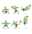 figurative soccer keeper vector image vector image