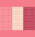 floral seamless patterns colored background vector image
