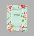 Floral spring design template wedding invitation