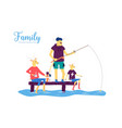 goat family spends time on lake or river shore vector image vector image