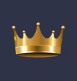 golden crown isolated blue background vector image vector image