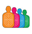 group of men paper targets vector image vector image
