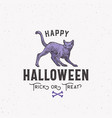 happy halloween sign logo or label template hand vector image vector image