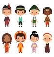 happy kids various nationalities vector image
