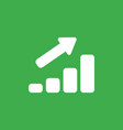 icon concept of sales bar graph moving up on vector image