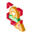 identity alert woman isometric icon vector image vector image