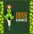 irish dance studio template in cartoon style vector image vector image