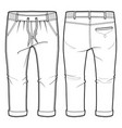 joggers with elasticized ribbing vector image vector image