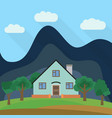 lone two-storey house vector image