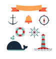 Marine set of icons vector image vector image