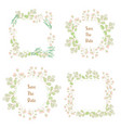 minimal flat style grass flower spring wreath vector image vector image