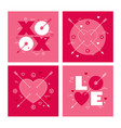 modern minimalist geometric valentines day vector image vector image
