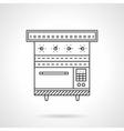 Multi oven flat line design icon vector image vector image