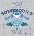 positive funny poster vector image