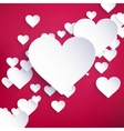 Red Heart Paper Sticker With Shadow EPS 10 vector image vector image