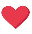 red heart shape cartoon vector image