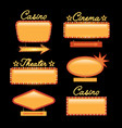 retro gold vintage motel neon sign vector image vector image