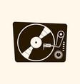 retro vinyl player 60s on light vector image