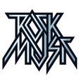 Rock music - metal logo emblem label