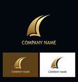 sail abstract gold business logo vector image vector image