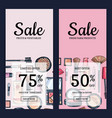 sale banners for beauty shop vector image vector image