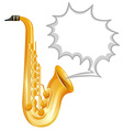 Saxophone on white background vector image vector image