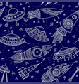 seamless pattern with ethnic ornamental rockets vector image vector image