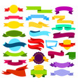 set colored ribbon banners vector image vector image