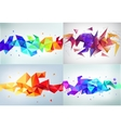 set of faceted 3d crystal colorful shapes vector image vector image