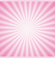 Striped pink ray burst background vintage