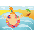 The child sea beach vector image vector image
