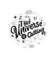 the universe is calling space travel vector image