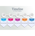 Timeline company template vector image vector image