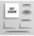 transparent soft shadow set element with vector image