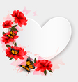 Valentines Day background Heart shaped background vector image