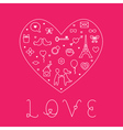 Valentines Day Love Card - with Flat Icons vector image vector image