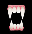 vampire fangs vector image vector image