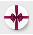 White Gift Box with Red Bow and Ribbon vector image vector image