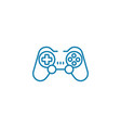 wireless gamepad linear icon concept wireless vector image vector image