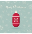 Christmas tree toy on winter backdrop vector image
