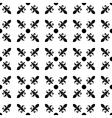 Fleur de lis in diagonal arrangement with dot in vector image